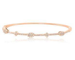 Geometric Patterned Diamond Bracelet LV32