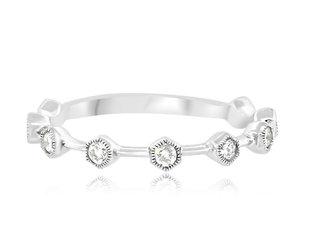 MeiraT Designs Honey Pod Diamond White Gold Ring MRT30