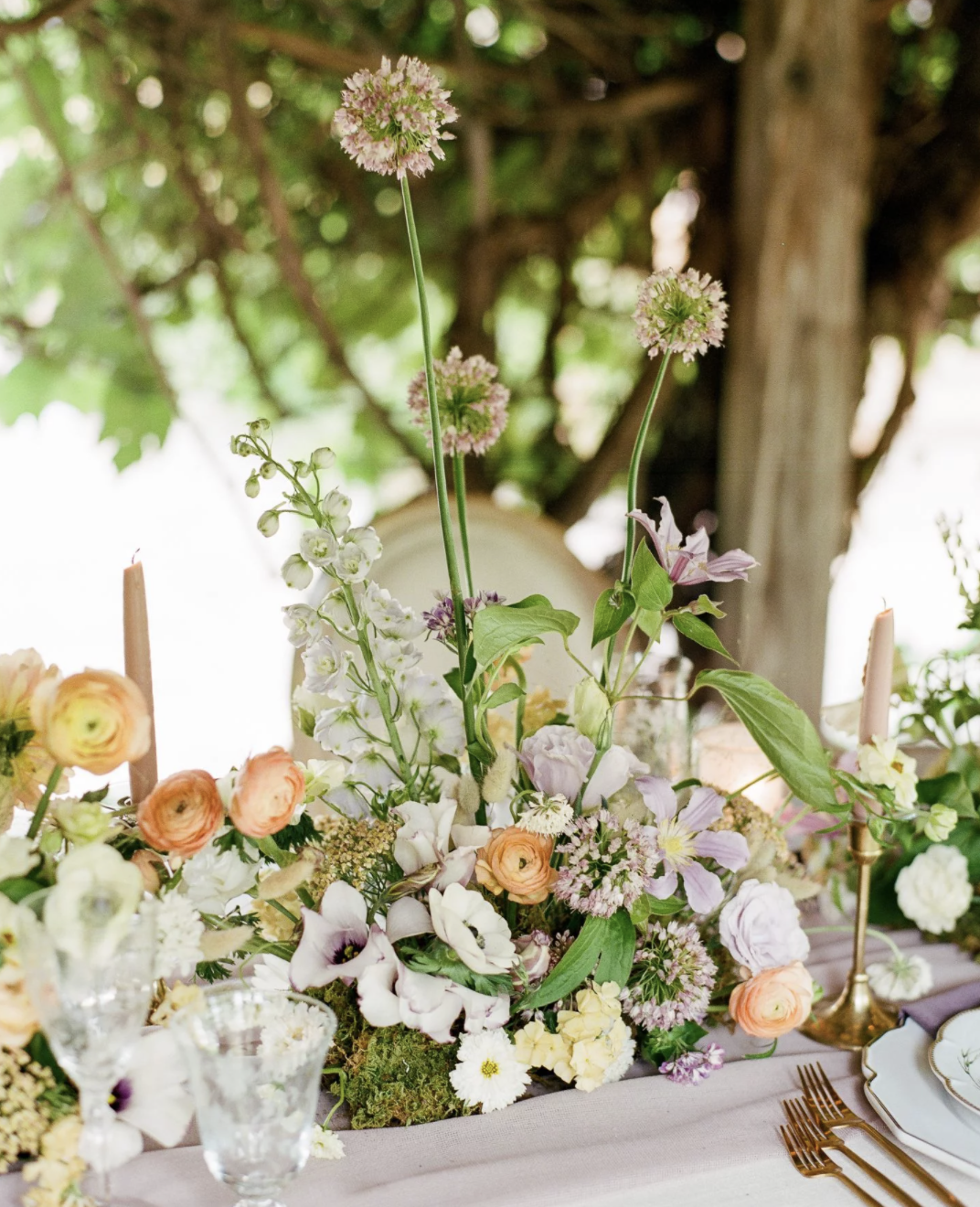 A Dreamy Sherbet Color Palette Drove the Design of This Garden Micro-Wedding in Colorado