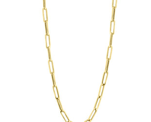 Medium Long Oval Link Yellow Gold Chain  E2264