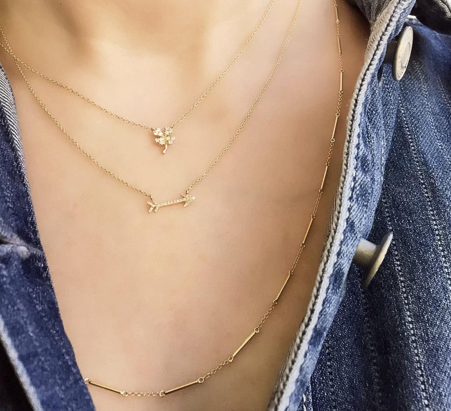 Unity Rose Gold Necklace With Single Bezel Diamond
