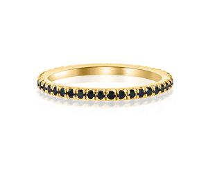 Trabert Goldsmiths Linea Black Diamond Gold Eternity Band E1620