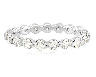 Trabert Goldsmiths Celeste White Gold Diamond Band E2269
