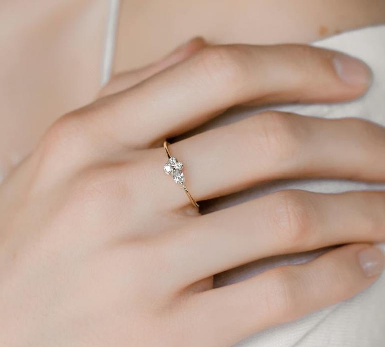 Melanie Casey Snow Owl Diamond White Gold Ring