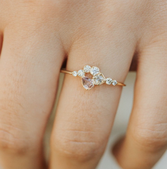 Melanie Casey Around the Bend in Melon Cluster Ring