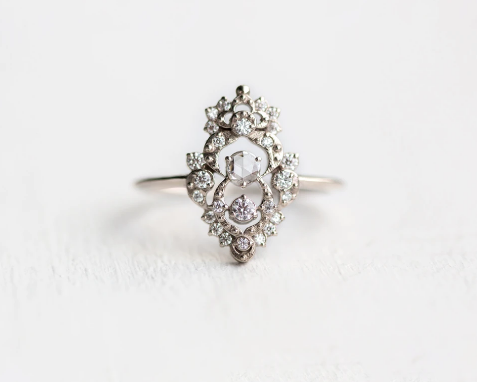 Melanie Casey Drawing Room Diamond Cluster Ring