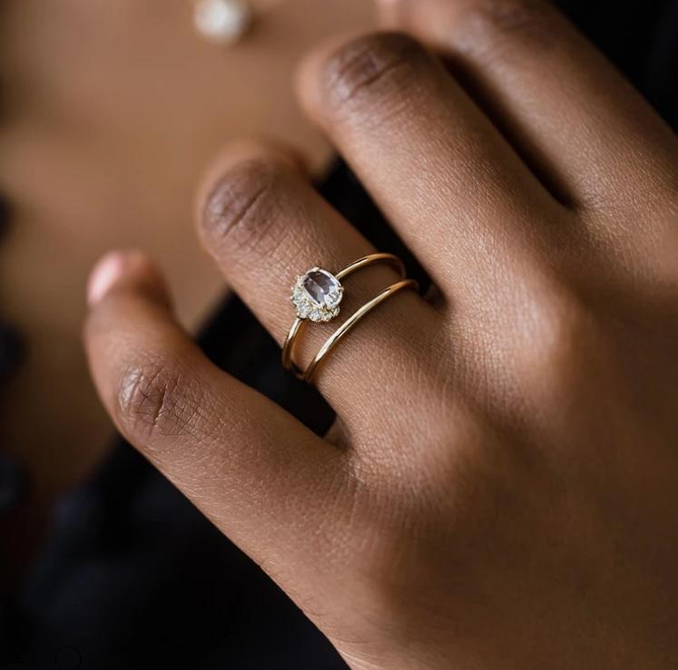 Melanie Casey White Sapphire Astra Ring