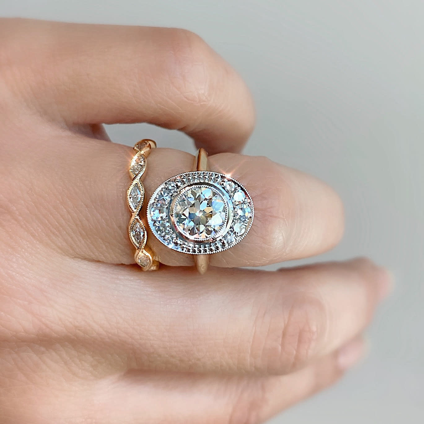 Trabert Goldsmiths 1.06ct ISI2 Oval Ollusion Ring