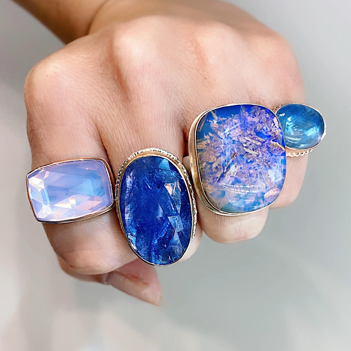 Jamie Joseph Jewelry Designs Smooth Blue Sapphire Bezel Ring