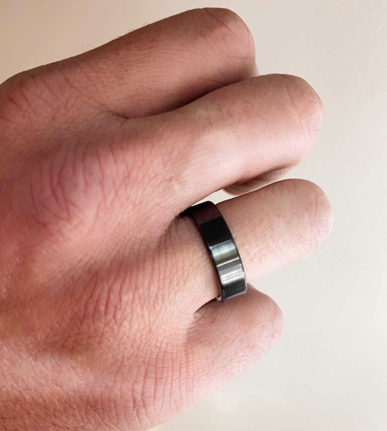 6mm Black Ceramic Flat Band