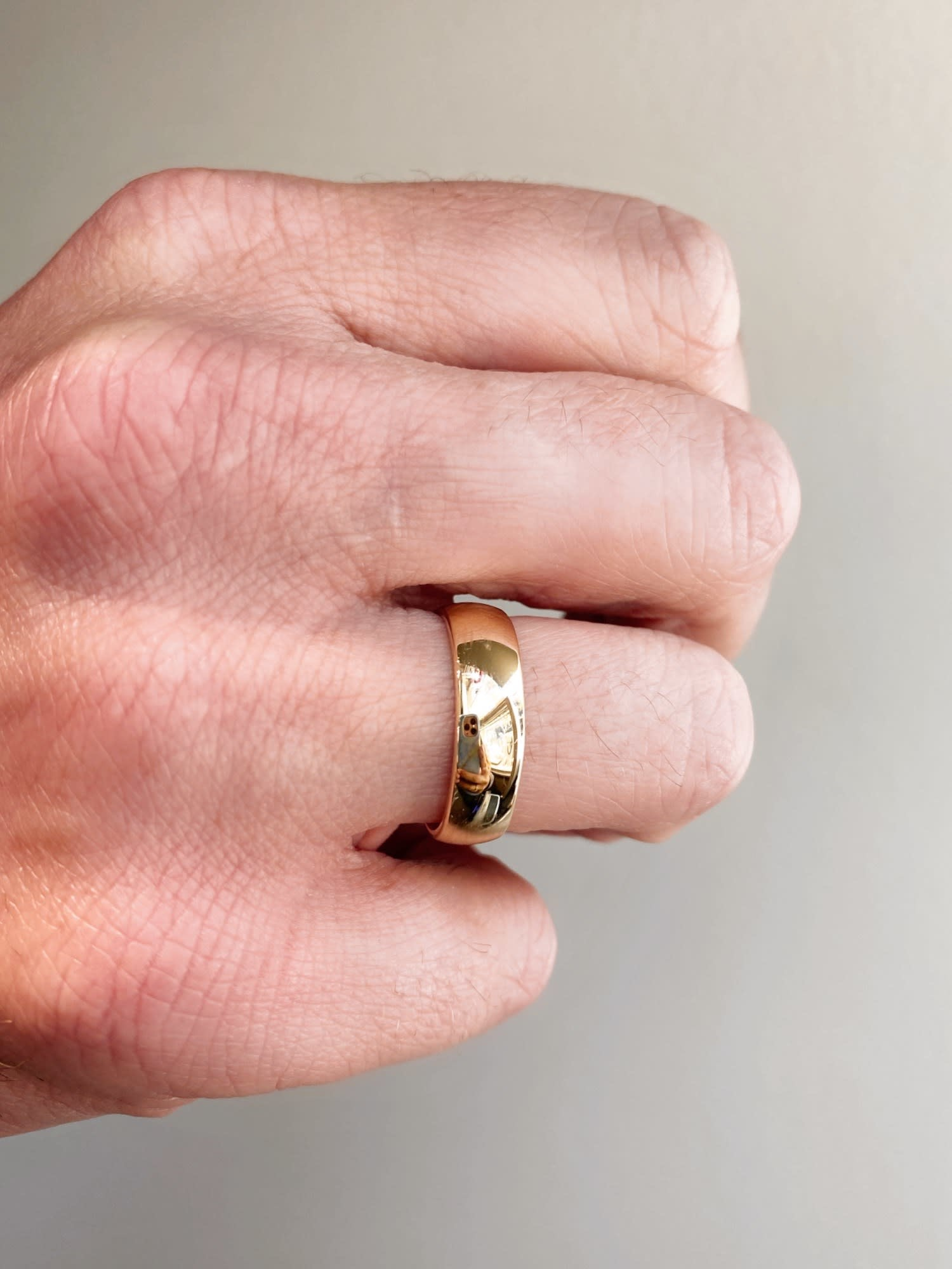 Men's 6mm Half Round Gold Band