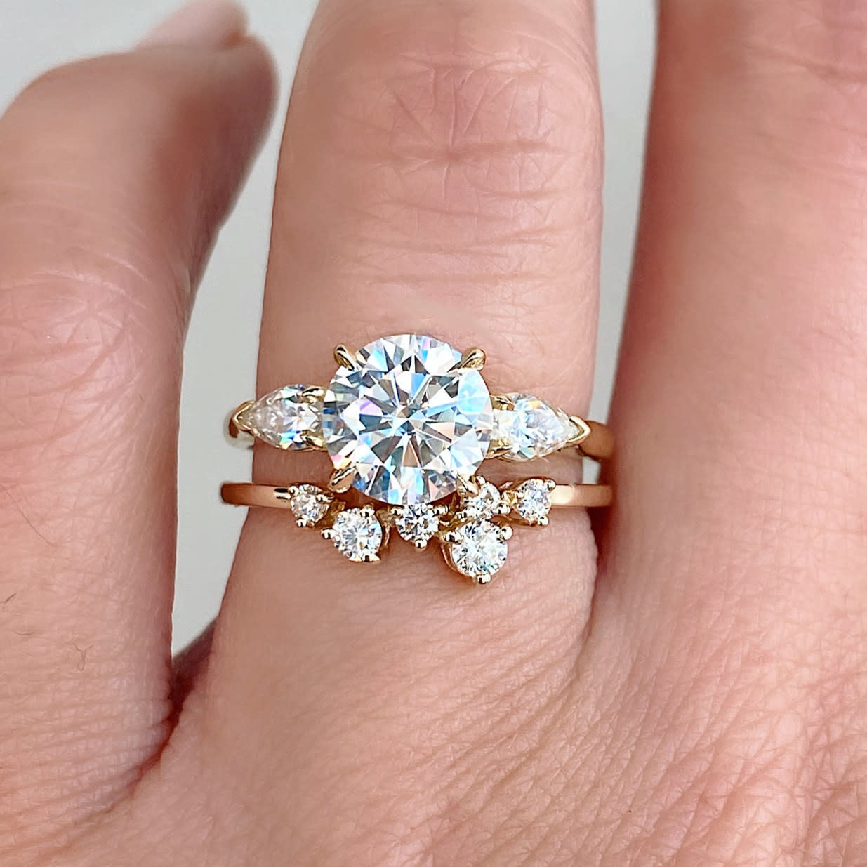 Dia  Constellation Cluster White Gold Ring LN115