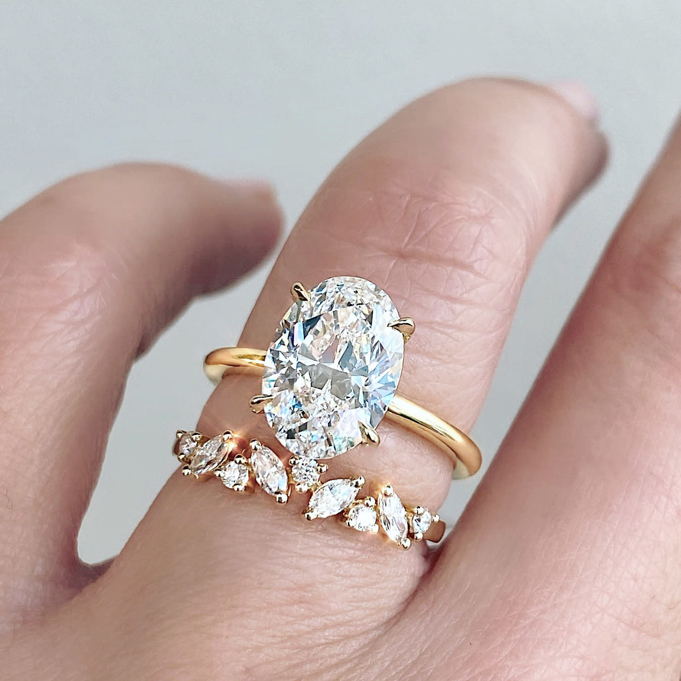 Marquise and Round Diamond Souli Rose Gold Band