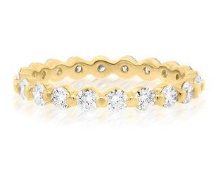 Trabert Goldsmiths Celeste Gold Diamond Shared Prong Band E2267