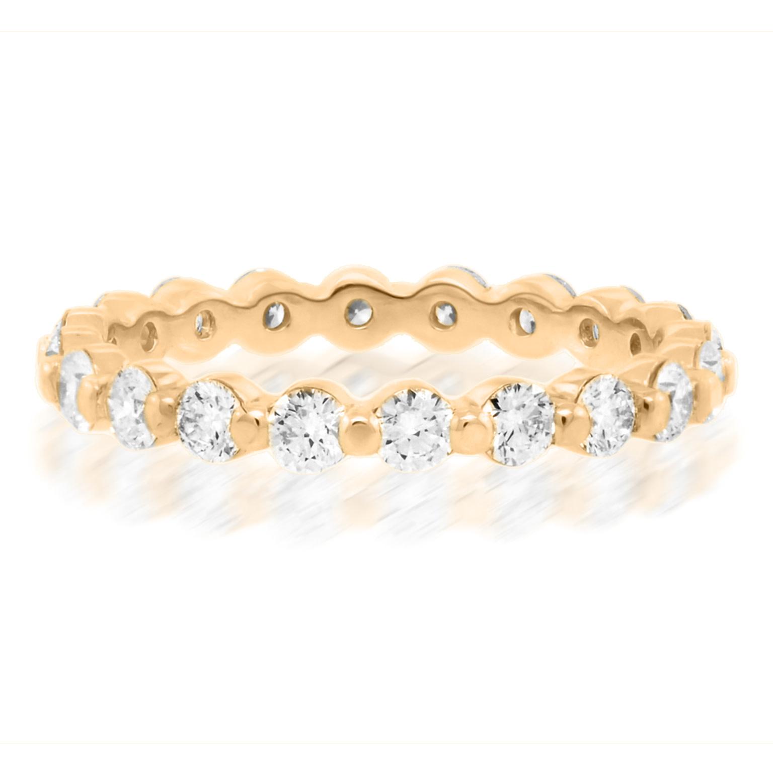 Trabert Goldsmiths Celeste Rose Gold Diamond Band