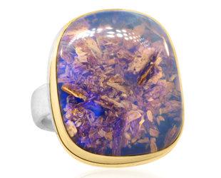 Jamie Joseph Jewelry Designs Opalized Wood Bezel Statement Ring JD173