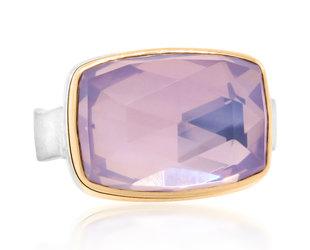 Jamie Joseph Jewelry Designs Rectangular Lavender Amethyst Bezel Ring JD174
