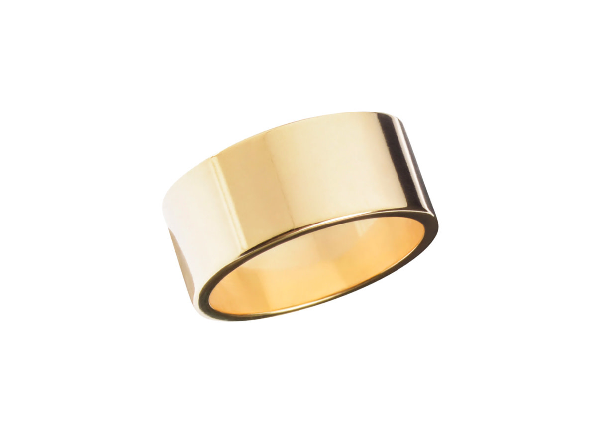 Trabert Goldsmiths 8mm Reflektor Flat 14k Gold Band