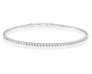 Trabert Goldsmiths 1ct White Gold Diamond Flex Bracelet E2266