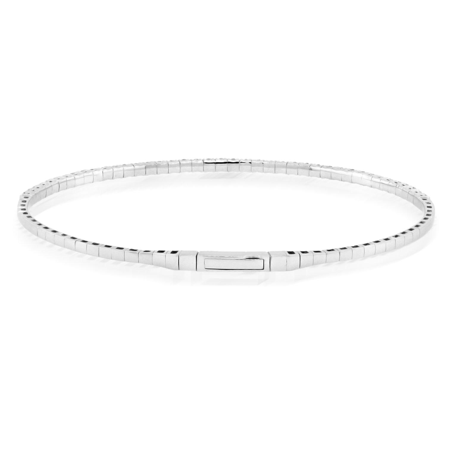 Trabert Goldsmiths 1.02ct White Gold Diamond Flex Bracelet