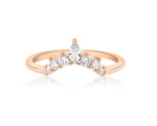 Trabert Goldsmiths Curved Diamond Delilah Ring E3007