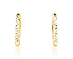Small Pave Diamond Huggie Hoops DL78