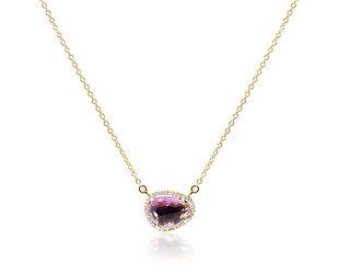 Asymmetrical Amethyst Necklace DL85