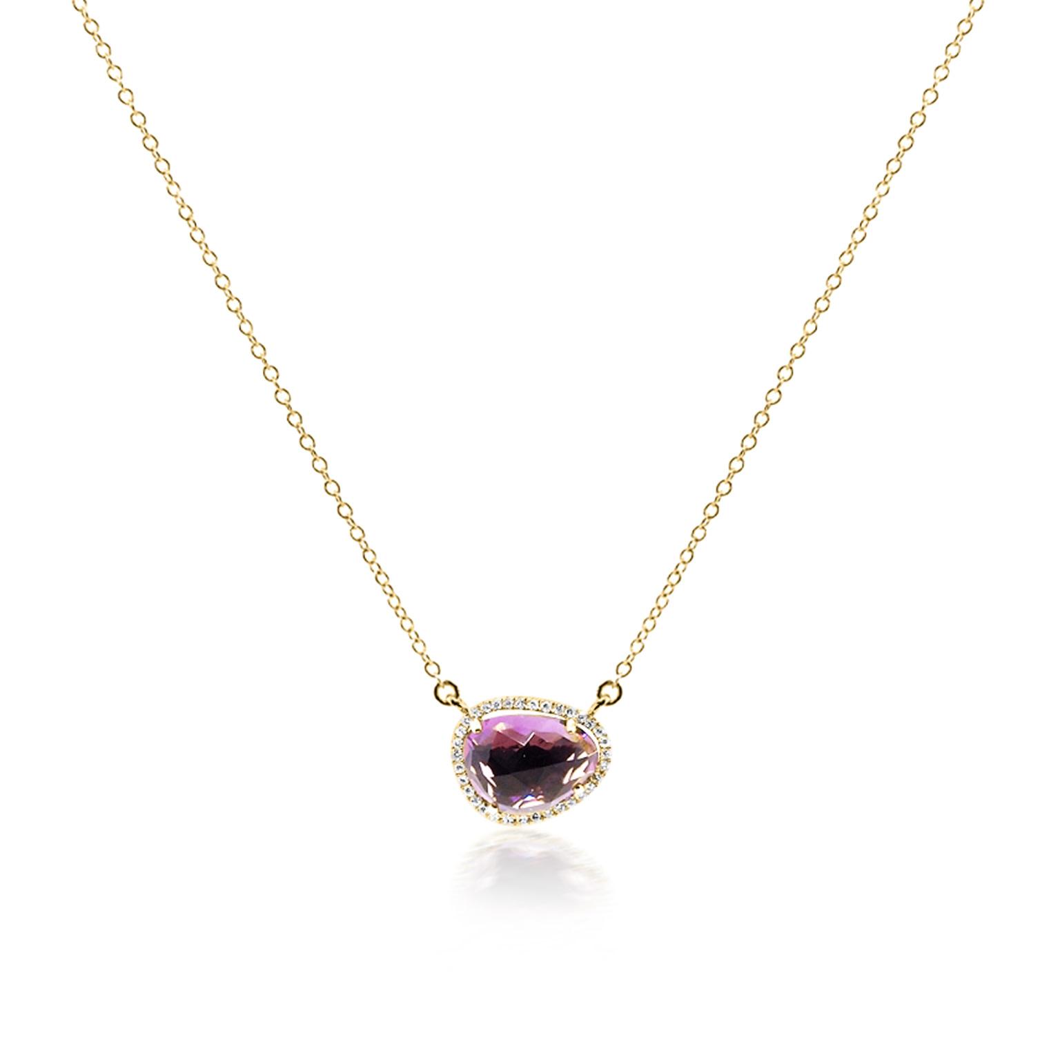 Asymmetrical Amethyst Necklace