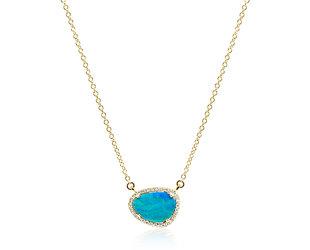 Asymmetrical Black Opal Necklace DL83