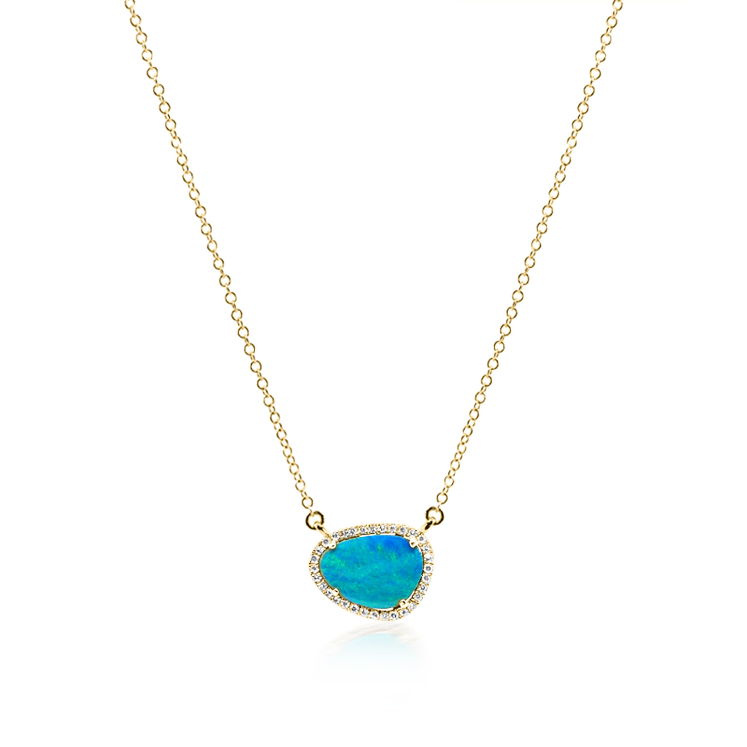 Asymmetrical Black Opal Necklace