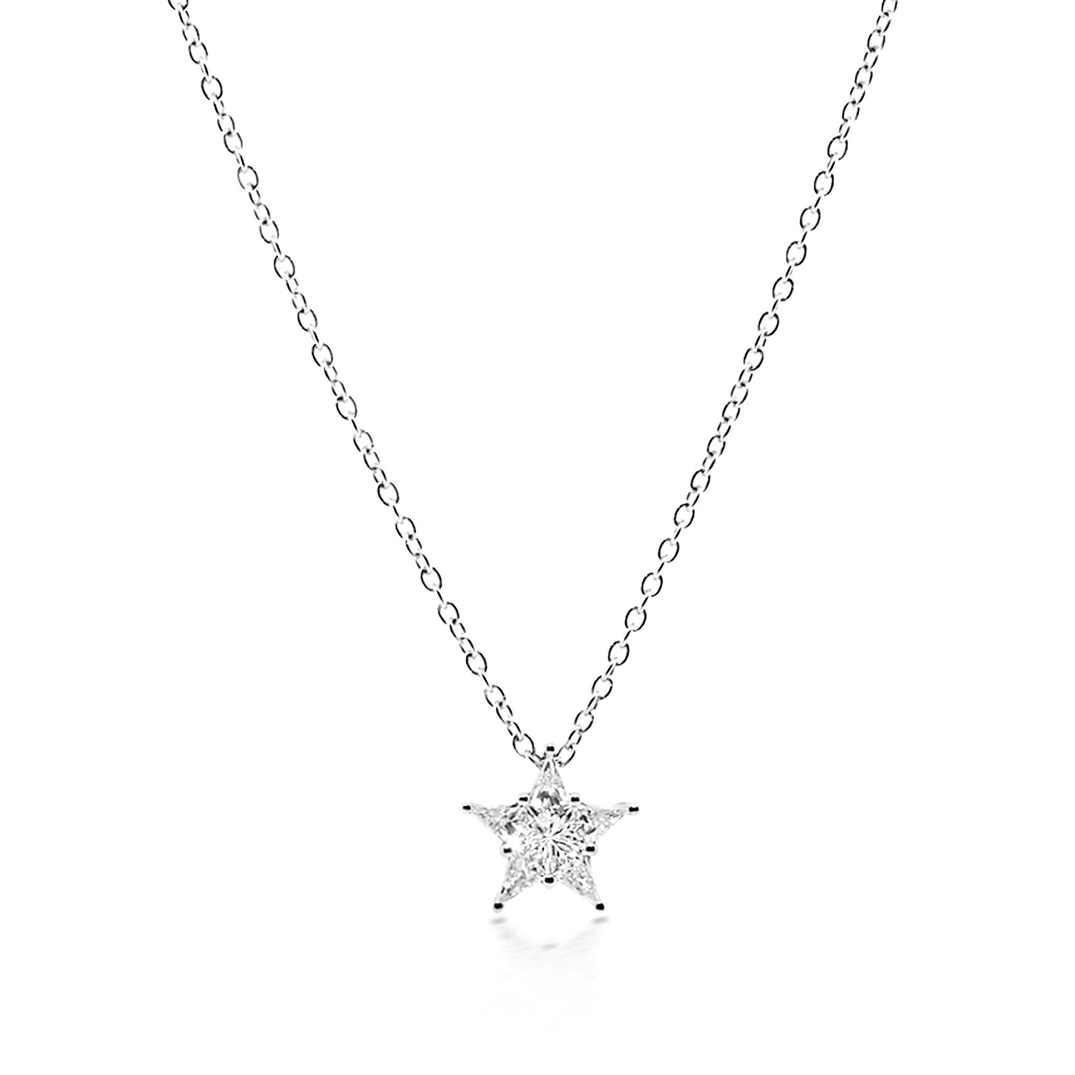 Trabert Goldsmiths Diamond Star Necklace