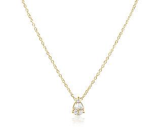 Trabert Goldsmiths Pear Shaped Diamond Necklace E2296