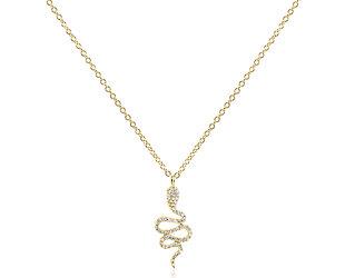 Trabert Goldsmiths Tiny Diamond Snake Necklace E2294