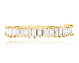 Beverley K Collection Jagged Baguette Diamond Band AB524