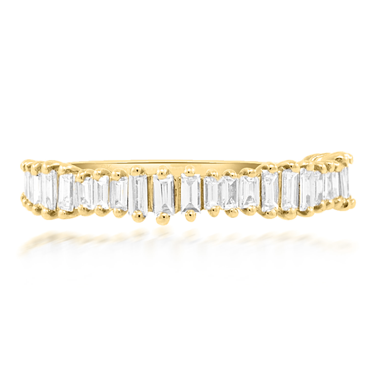 Beverley K Collection Jagged Baguette Diamond Band