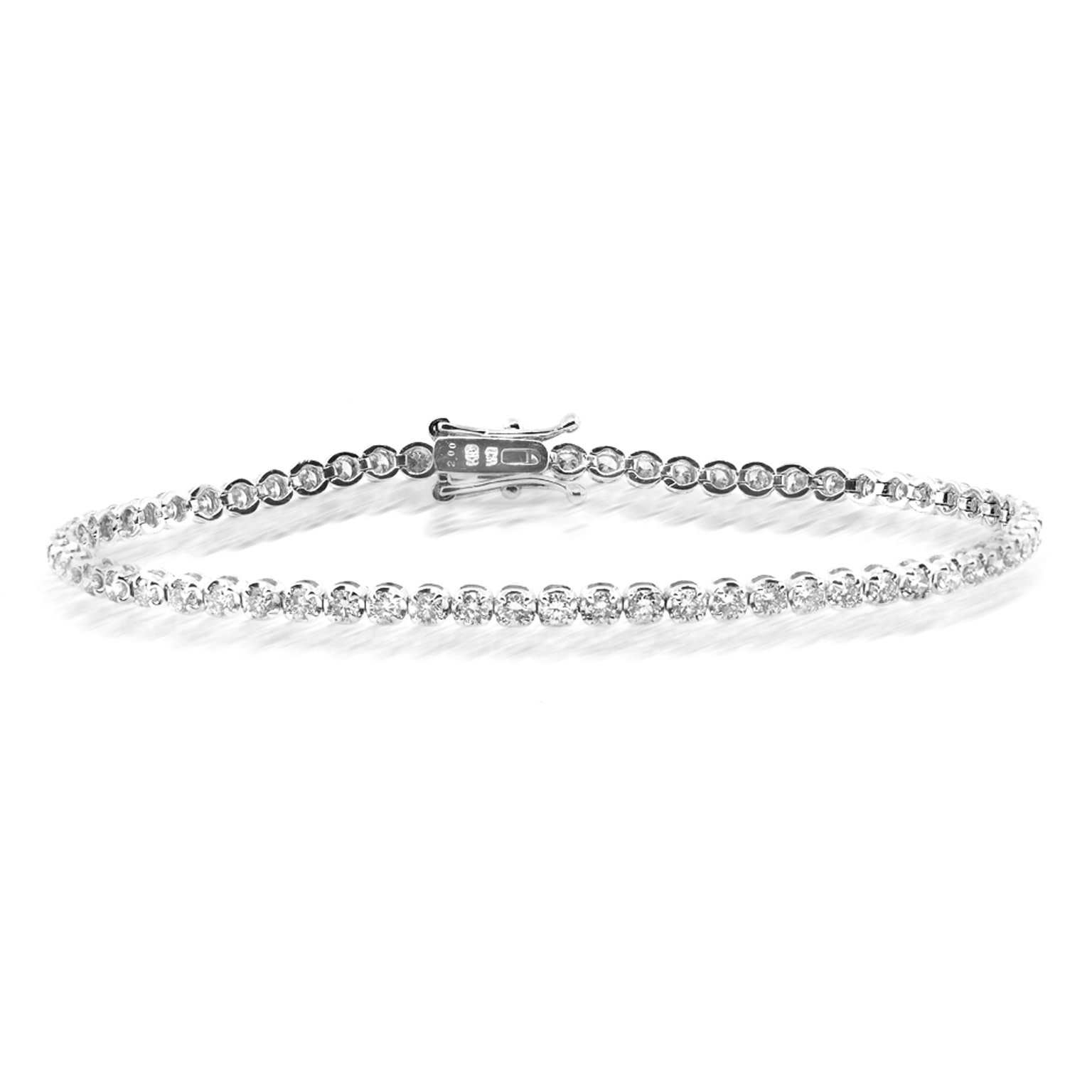 Beverley K Collection Diamond Tennis Bracelet