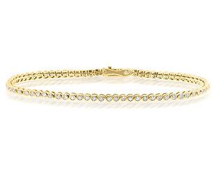 Beverley K Collection Bezel Set Diamond Tennis Bracelet AB527
