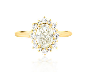 Trabert Goldsmiths 1.02ct FSI1 Oval Diamond Andromeda Ring E3001