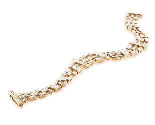 Beverley K Collection 13.17ct Baguette Diamond Bracelet AB531