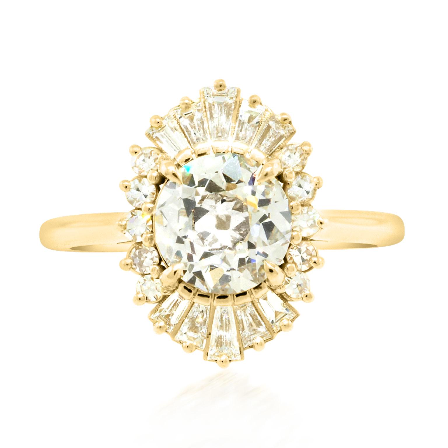 Trabert Goldsmiths 1.58ct LVS2 OEC Diamond Balanchine Ring