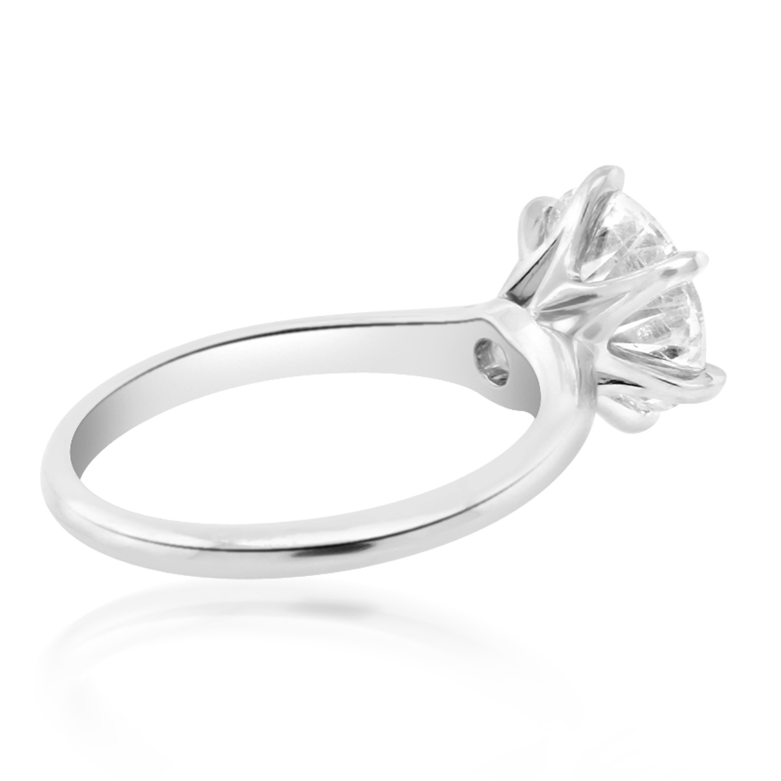 2.50ct FVS2 Round Brilliant Lab Diamond Ring V21