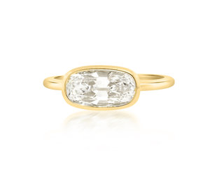 Trabert Goldsmiths 1.65ct DI1 Antique Cushion Jezebel Ring E3013