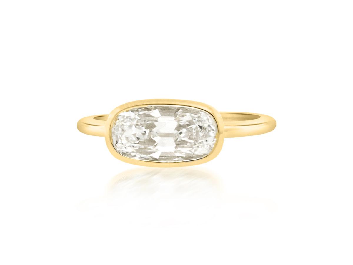 Trabert Goldsmiths 1.65ct DI1 Antique Cushion Jezebel Ring