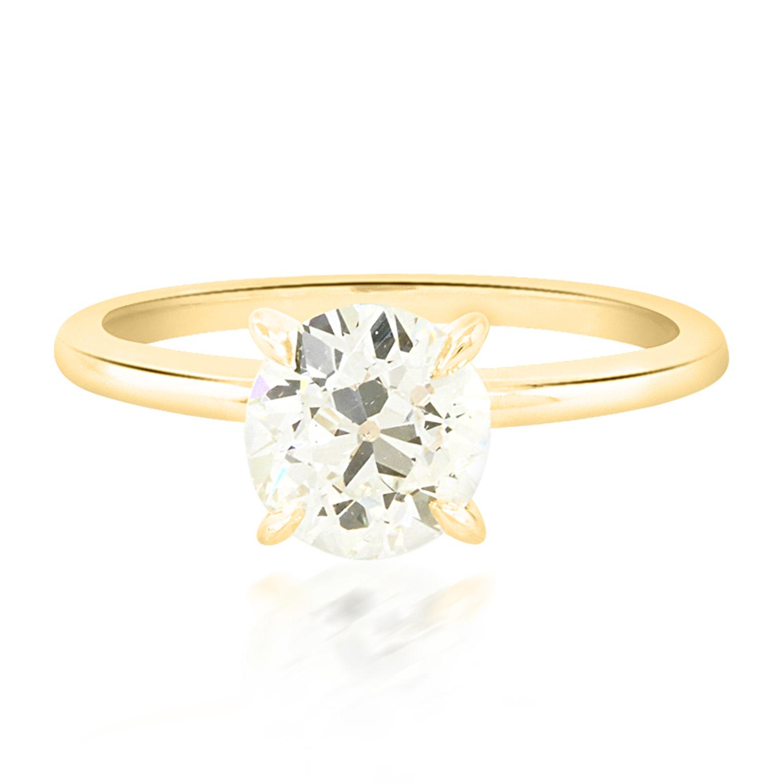 Trabert Goldsmiths 1.36ct KVS2 Old European Cut Diamond Ring