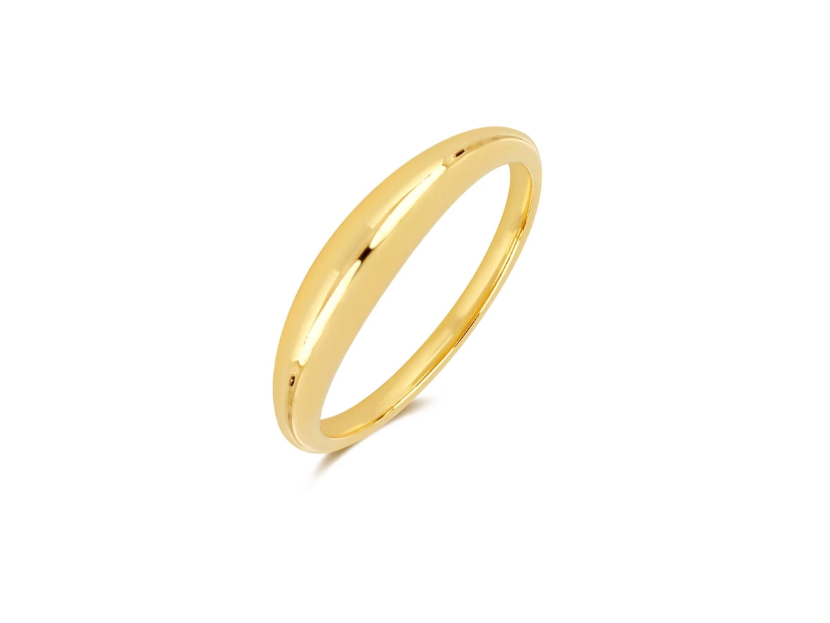 EF Collection Polished Gold Dome Ring