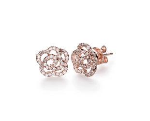 EF Collection Diamond Rose Stud Earrings EF6