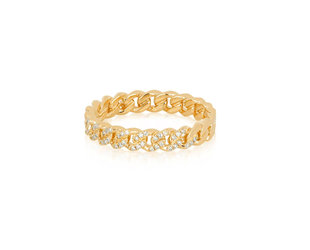 EF Collection Diamond Mini Curb Chain Ring EF8