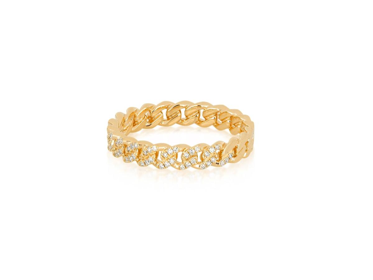 EF Collection Diamond Mini Curb Chain Ring