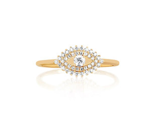 EF Collection Diamond Evil Eye Ring EF10