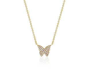 EF Collection Pave Diamond Butterly Necklace EF15
